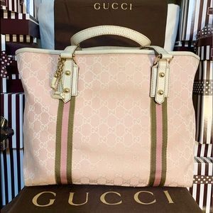 AUTHENTIC🌸GUCCI🌟SHERRY GG CANVAS TOTE! LARGE!!